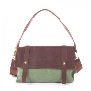 green Leisure cowhide canvas bag