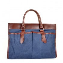 BLUE Leather Messenger bags