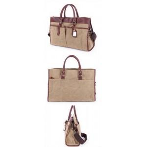 KHAKI Leather Messenger bags