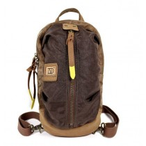 coffee Canvas Backpack Style Purse