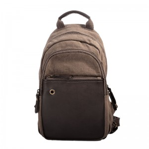 Teenagers Leisure Canvas Backpacks, Small Leather Shoulder Bag