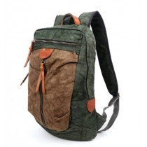green New Look Casual Canvas Backpacks