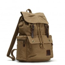 khaki Unique Canvas Drawstring Backpacks