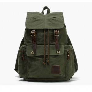 army green Unique Canvas Drawstring Backpacks