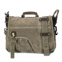 Army green Messenger bag, IPAD personalized canvas bags