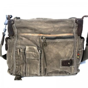 Army green IPAD Messenger bag