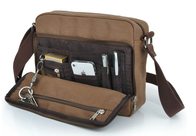 IPAD mens messenger bags canvas, cheap canvas messenger bag - YEPBAG