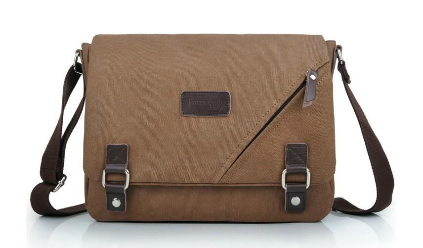 Ipad canvas satchel bag, mens messenger bags canvas - YEPBAG