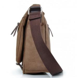coffee Ipad canvas satchel bag
