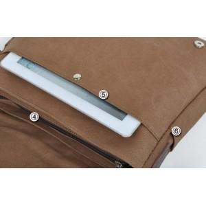 vintage Ipad canvas satchel bag
