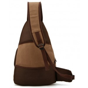 coffee Ipad one shoulder strap backpack