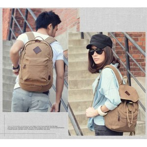canvas high school couples backpack