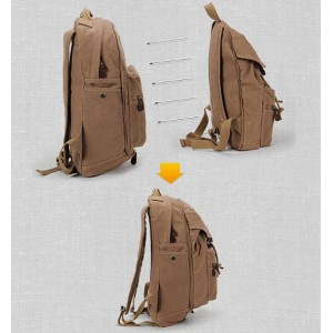 khaki high school couples backpack