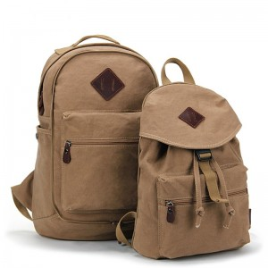 khaki school couples backpack