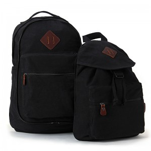 black high school couples backpack
