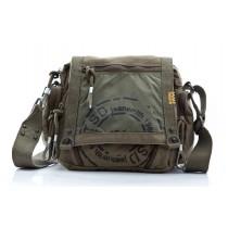 Cotton canvas messenger bag