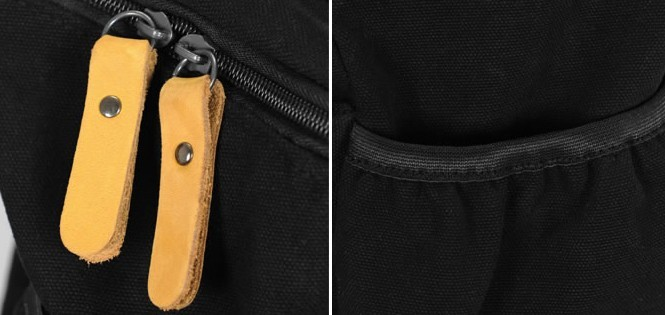 7ef96adb364b ... black adventure daypack  canvas Backpack for school ...