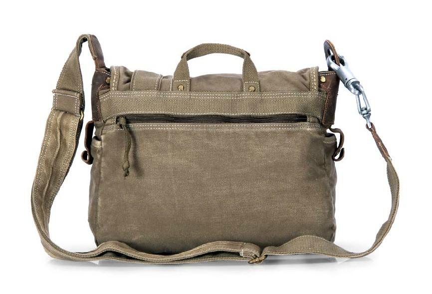 Canvas satchel bookbag, canvas messenger bag natural - YEPBAG
