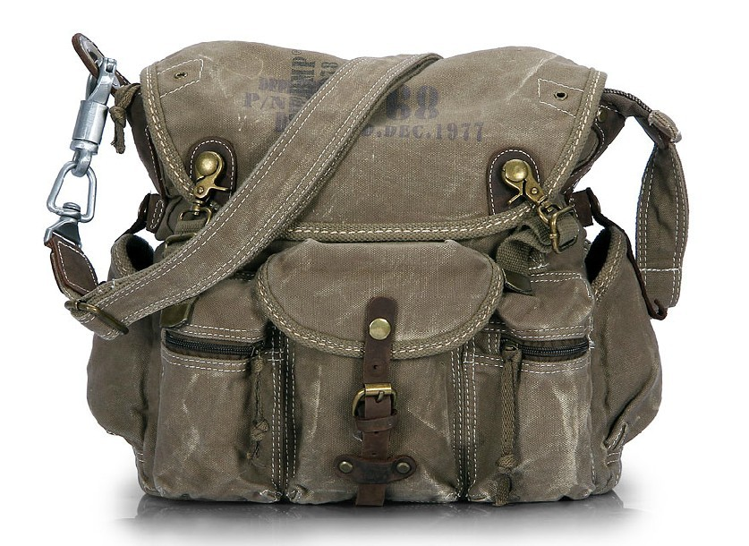 Vintage canvas messenger bags men, canvas travel shoulder bags for ...