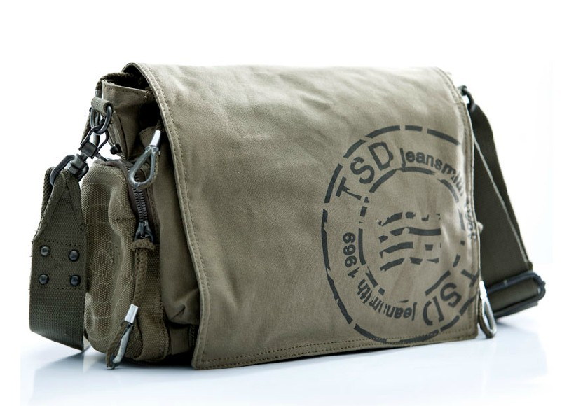 Vintage canvas messenger bags for men, canvas shoulder bag men ...