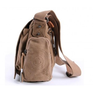 khaki canvas shoulder bag men