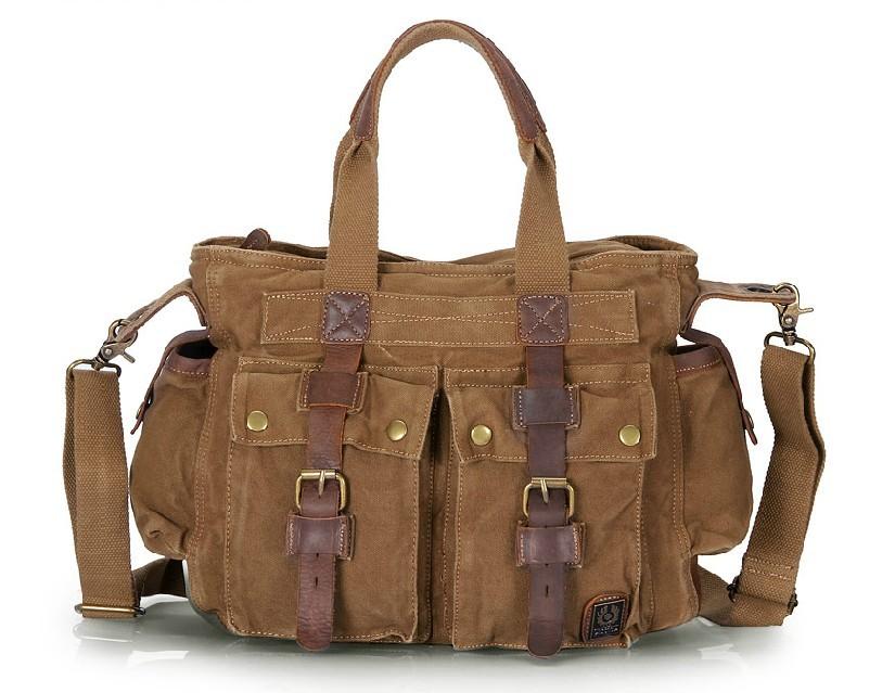 Canvas satchel handbag, canvas satchel messenger bag - YEPBAG