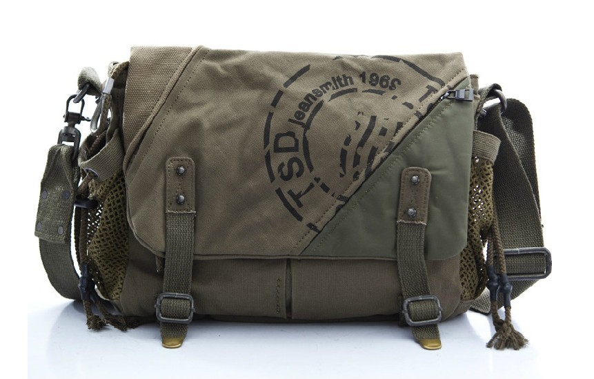 Canvas shoulder bag mens, canvas satchel book bag - YEPBAG