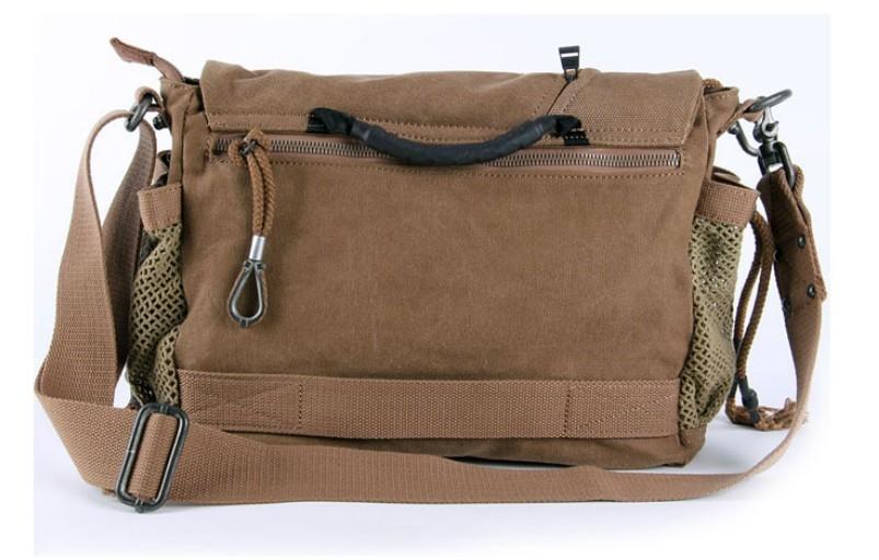 Canvas shoulder bag mens, canvas satchel book bag - YEPBAG