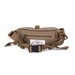 khaki Natural canvas fanny pack