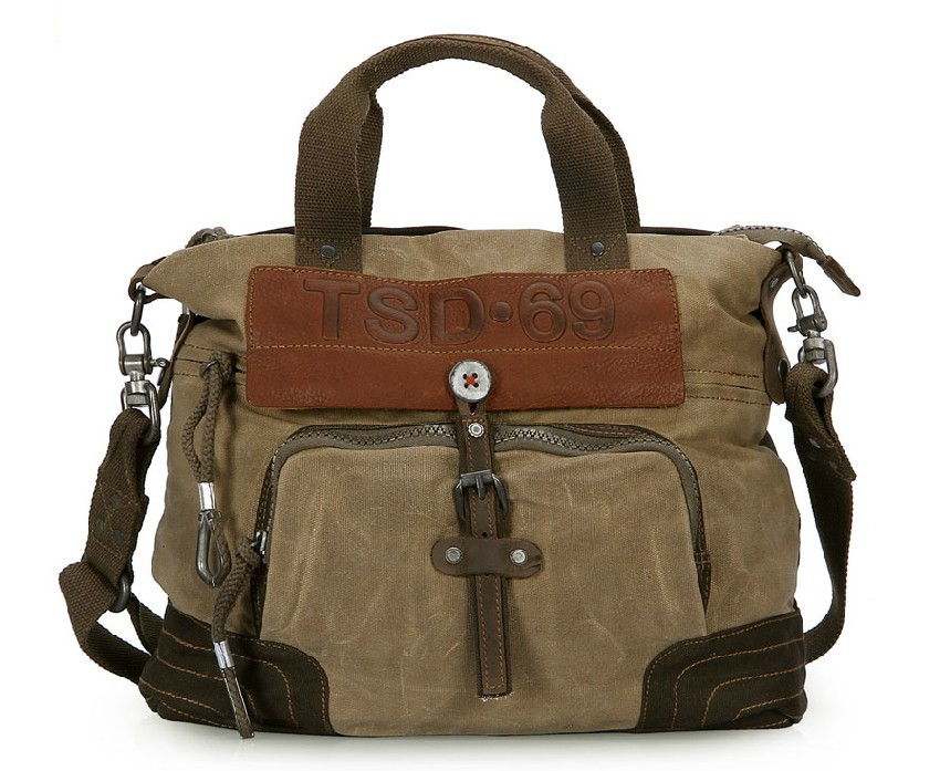 Canvas shoulder bag popular design color, canvas satchel bag for ...