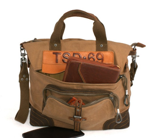 Satchel Handbags For Men Canvas satchel bag for men
