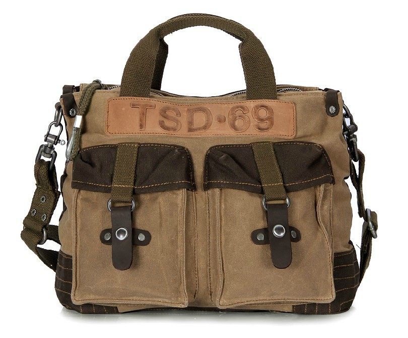 Vintage canvas messenger bag, mens canvas satchel bag - YEPBAG