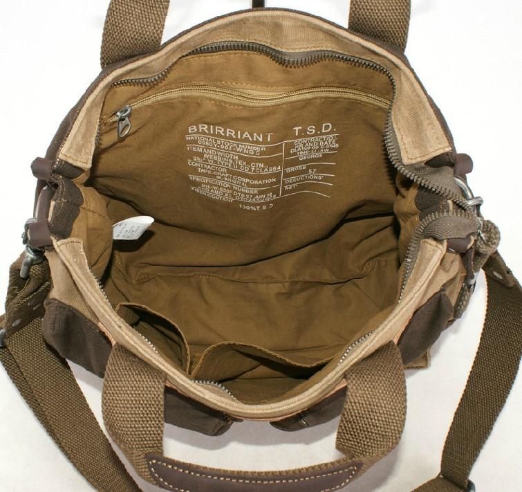 Vintage canvas messenger bag, mens canvas satchel bag - YEPBAG