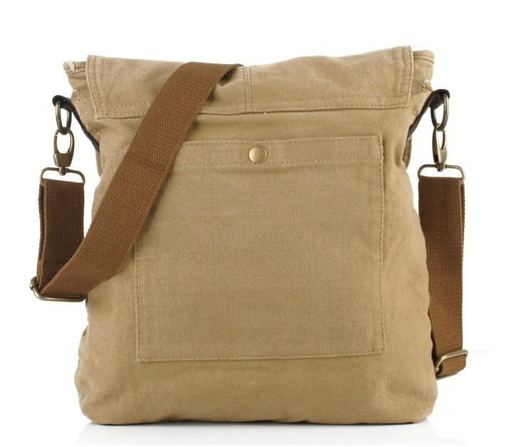 Men's canvas satchel bag, classic canvas messenger bag - YEPBAG
