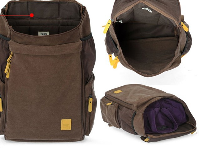 79b8298d4c19 ... canvas Backpack for school  canvas adventure daypack ...