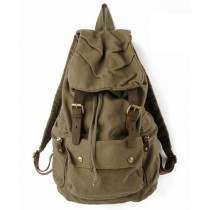 Leather and canvas backpack, mens backpack