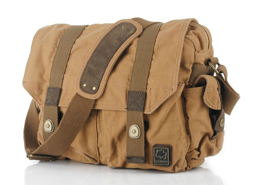 Men's canvas messenger bags, mens canvas shoulder bag - YEPBAG