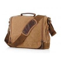 Shoulder school bag, men canvas satchels