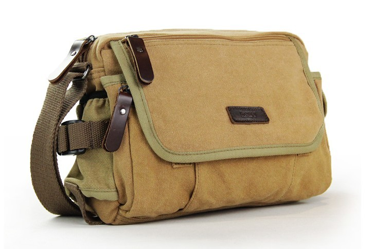 Mens canvas and leather shoulder bag, canvas shoulder bags for ...