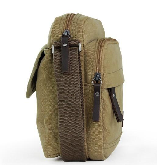 Ladies canvas shoulder bag, small canvas shoulder bag - YEPBAG