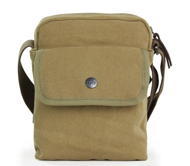 c251895a9892 ... khaki small canvas shoulder bag ...