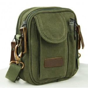 mens small canvas satchel