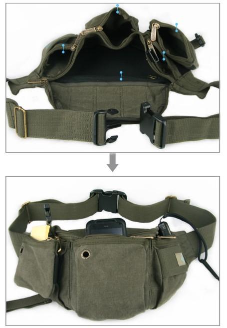 canvas belt bag unique fanny packs yepbag