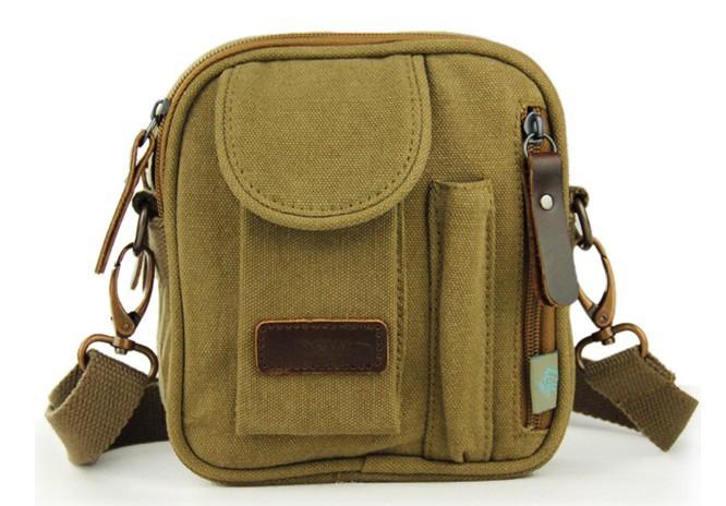 1dce53a5f22 ... khaki Small canvas messenger bags for men  khaki mens ...