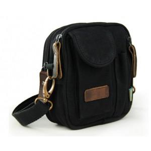 black mens small canvas satchel
