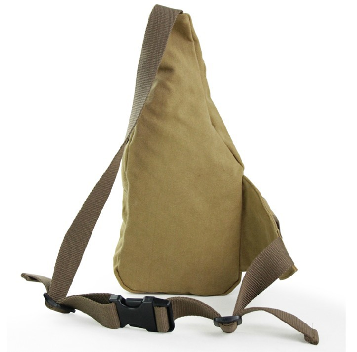 Khaki One Strap Shoulder Bag