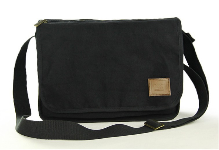 ... black mens canvas shoulder bag ... b9d23c78f5cfc