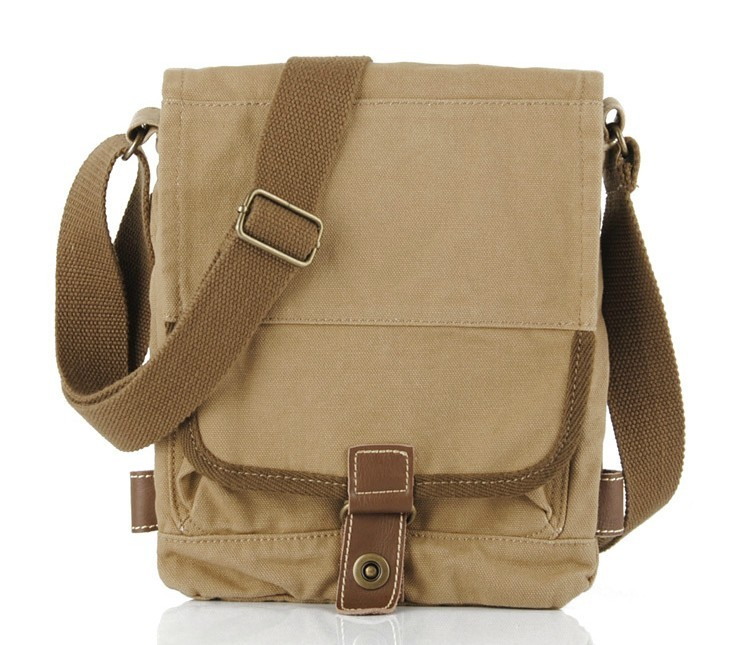 Mens canvas shoulder bag, canvas satchel men - YEPBAG