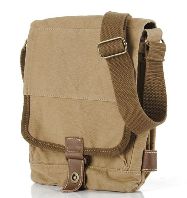d5960127334f ... shoulder bag  khaki canvas satchel men ...