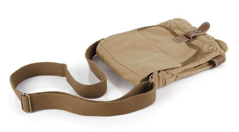 Mens canvas shoulder bag, canvas satchel men - YEPBAG